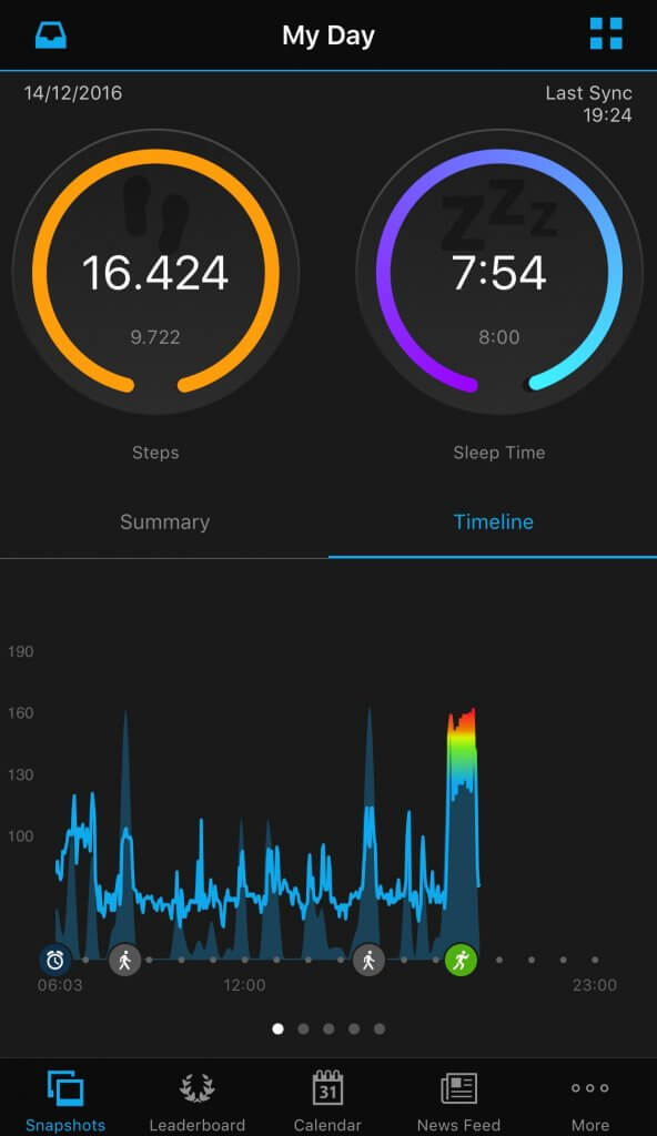 Garmin Vivoactive HR garmin connect app