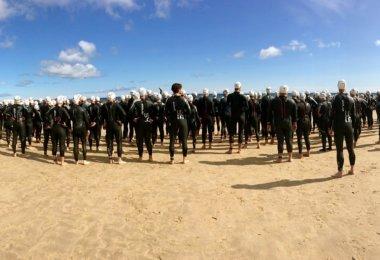Welcher Neoprenanzug Triathleten am See