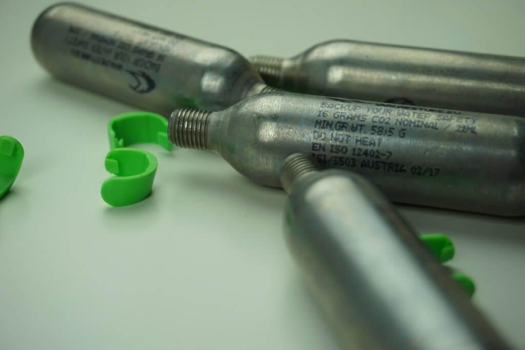 RESTUBE Test: CO2 Kartusche und Clip