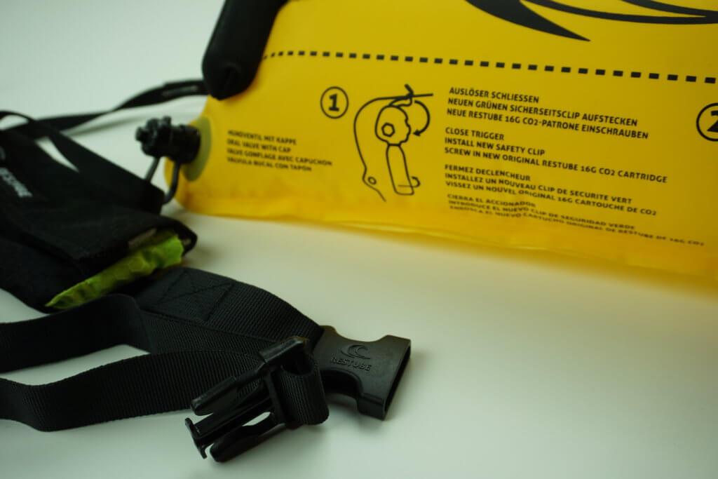 RESTUBE Test: Tasche und Gurtsystem