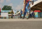 VELO Frankfurt 2018 - Besucher der VELO auf der Teststrecke