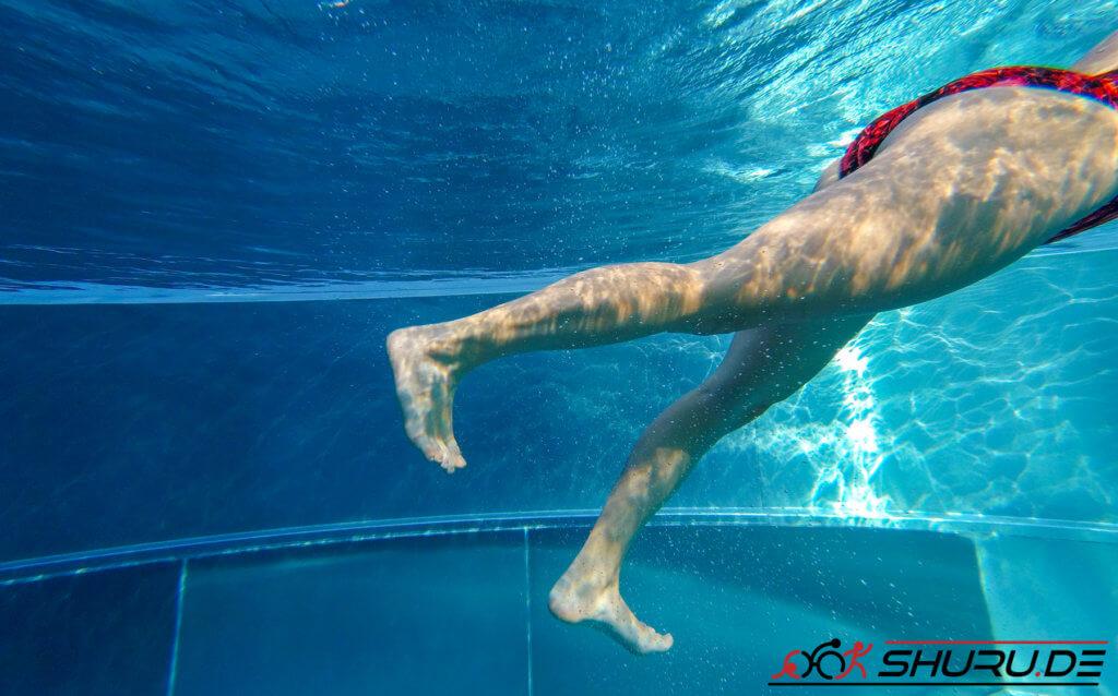 Beinschlag für Triathleten Fehler: Krähenfuß
