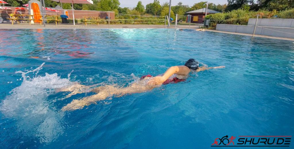 Druckphase beim Kraulschwimmen