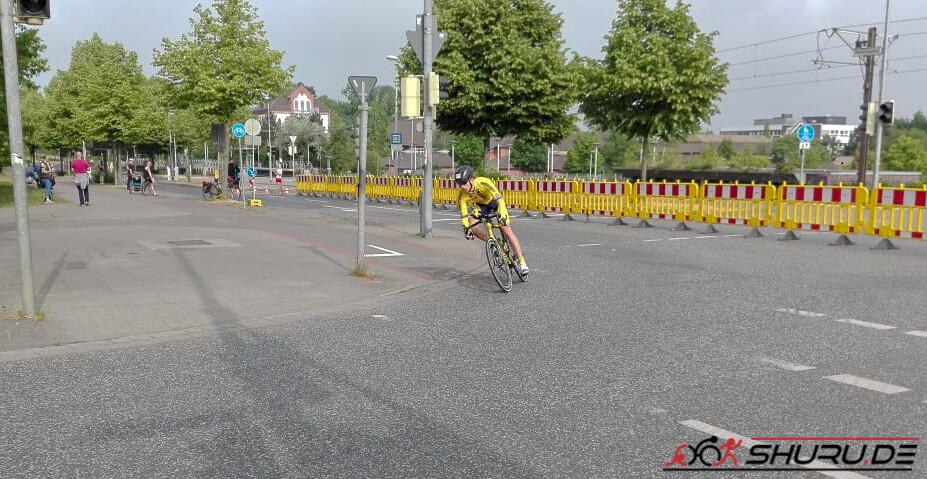 Quadrathlon-Staffel Radfahren