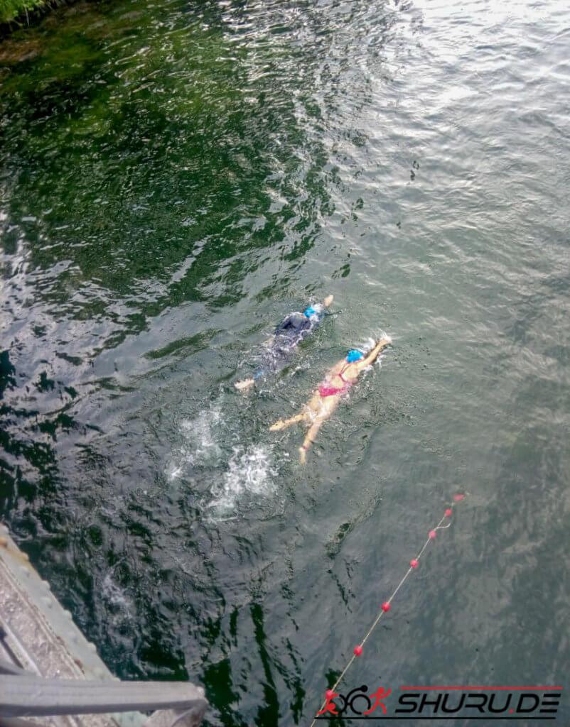 Quadrathlon-Straffel Schwimmen