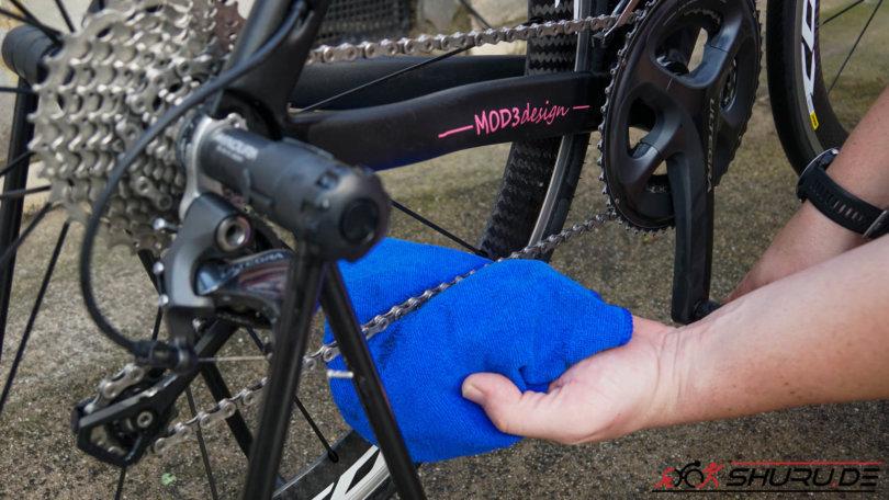 Fahrrad Pflege Kette trocknen