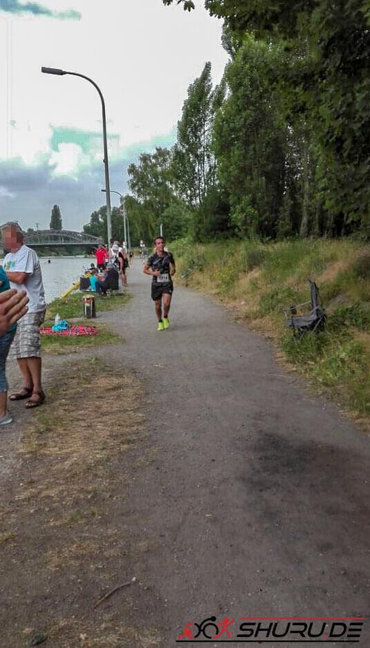 Quadrathlon-Staffel: Din beim Laufen